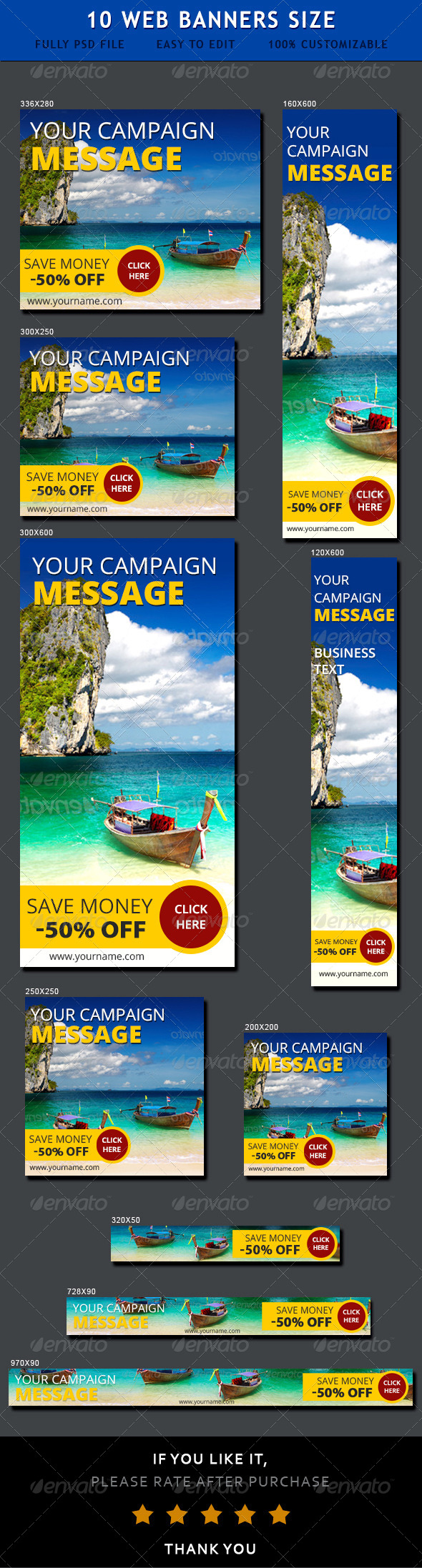 GraphicRiver Travel Web Ad Banners 6928862