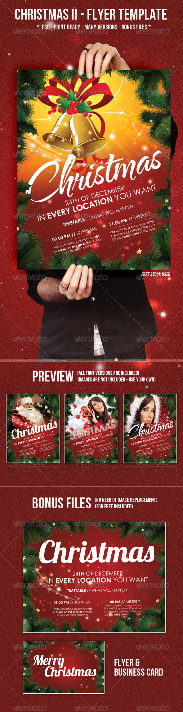 GraphicRiver Christmas II Flyer Template 726359