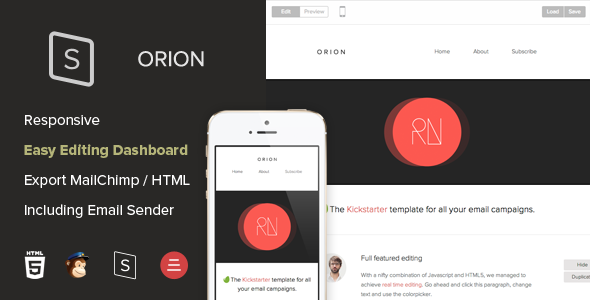 ThemeForest Orion Responsive Template with Editing Dashboard 6917341