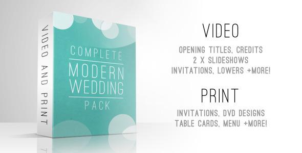 AE模板-整套现代优雅婚礼邀请视频相册制作包装工程模板Complete Modern Wedding Pack免费下载