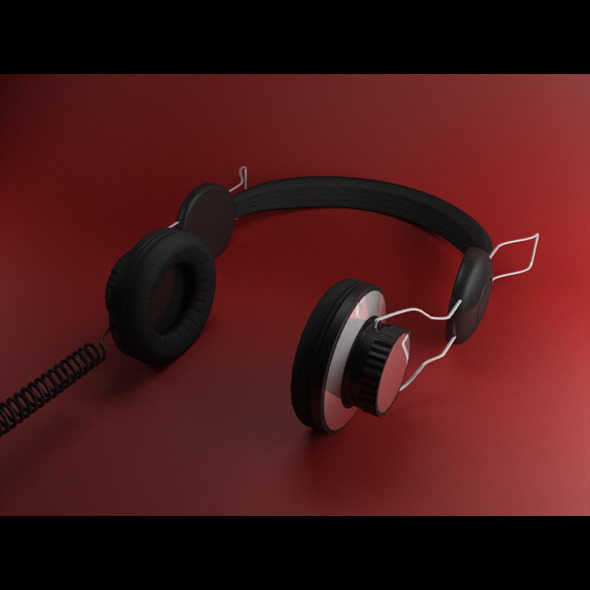 3DOcean Generic Stereo Headphones 6929264