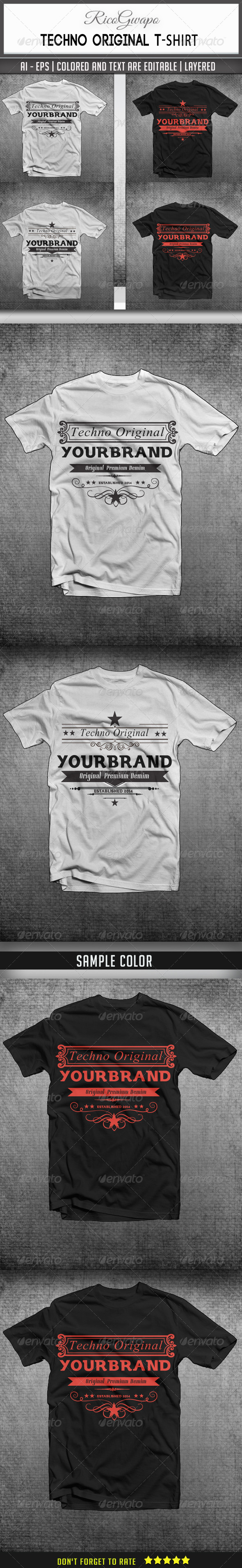 GraphicRiver Techno Original T-Shirts 6912949