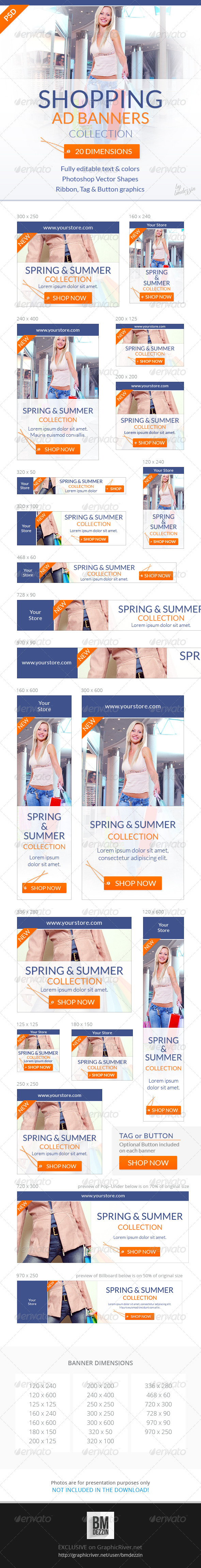 GraphicRiver Shopping Web Ad Banners 6932281