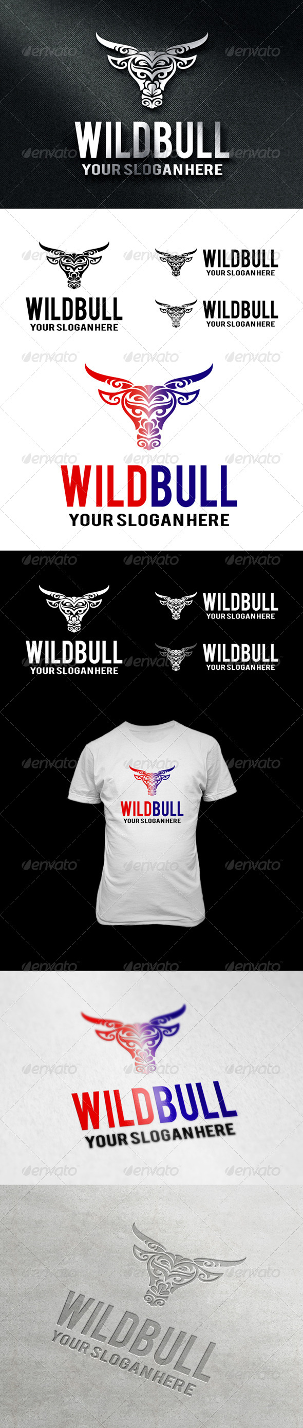 GraphicRiver WildBull Logo 6932362