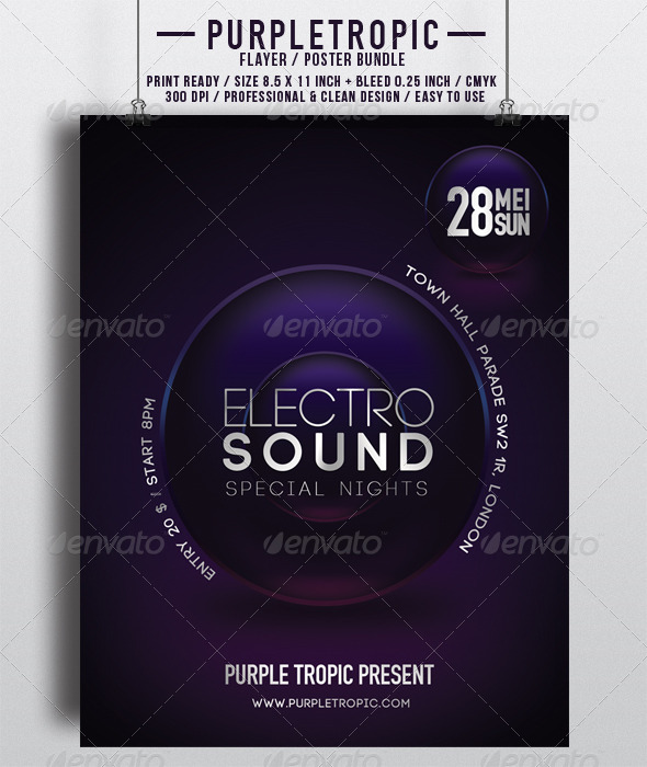 GraphicRiver Purple Tropic 6895137