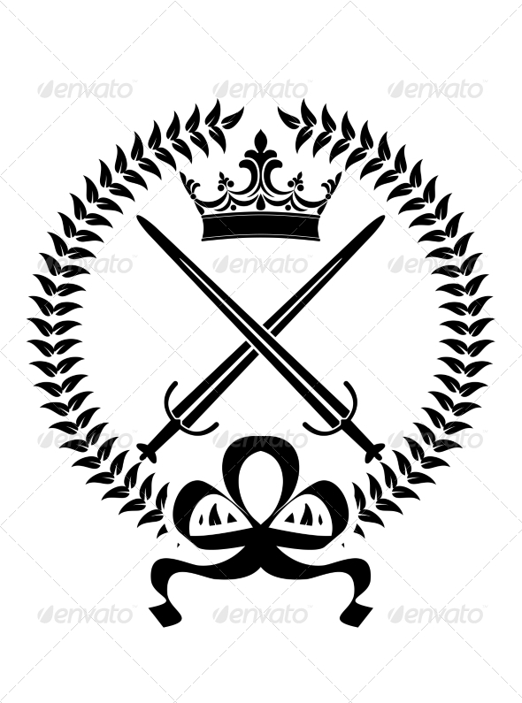 GraphicRiver Royal Emblem with Crossed Swords 6932855