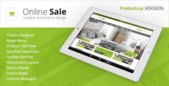 ThemeForest OnlineSale Premium Prestashop Theme 6933295