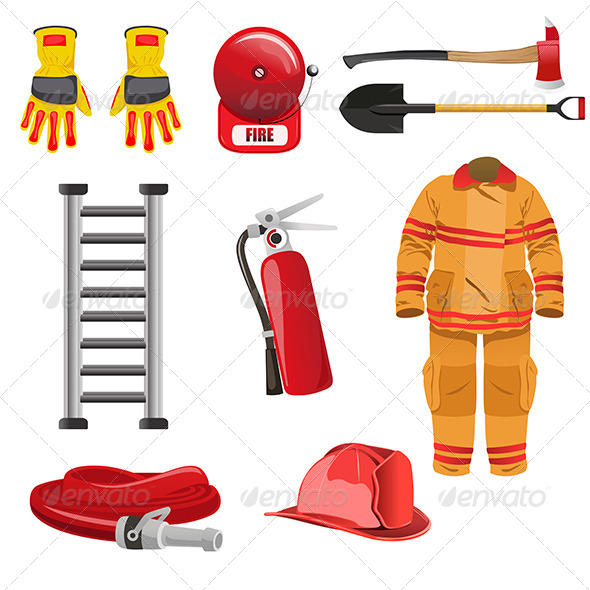 GraphicRiver Firefighters Icons 6933311