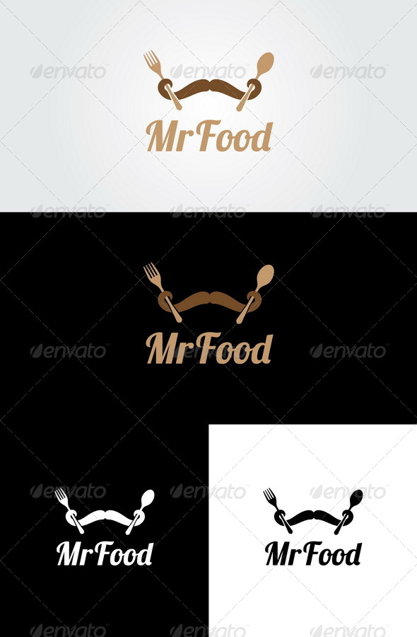 Mr Food Logo Template