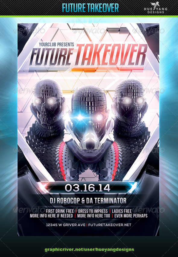 GraphicRiver Future Takeover Flyer 6933354