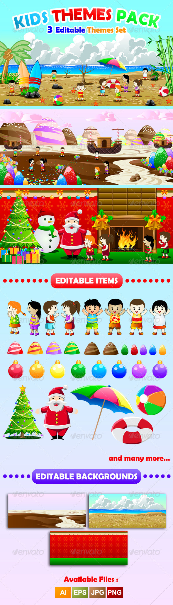 GraphicRiver Kids Theme Pack 6923435