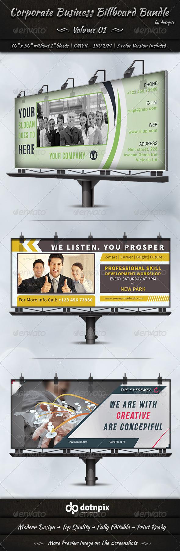 GraphicRiver Corporate Business Billboard Bundle Volume 1 6933464