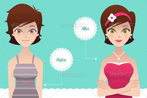 GraphicRiver Before and After Makeup 6933503
