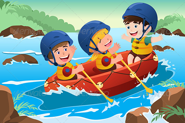 GraphicRiver Kids on Boat 6933619