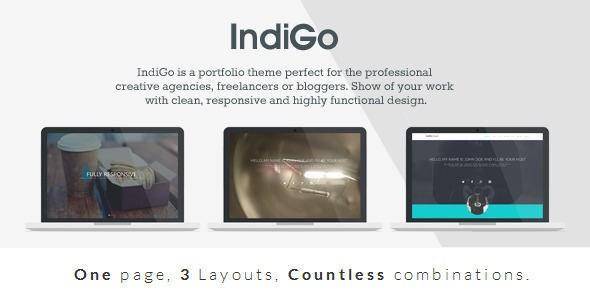 ThemeForest IndiGo Responsive One Page Template 6913535