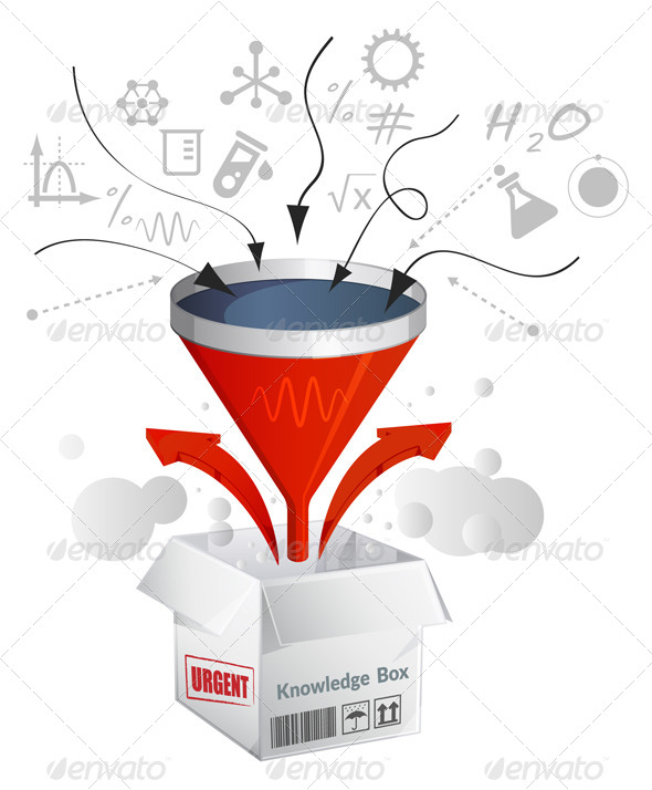 GraphicRiver Knowledge Assimilation Box Illustration 6933950