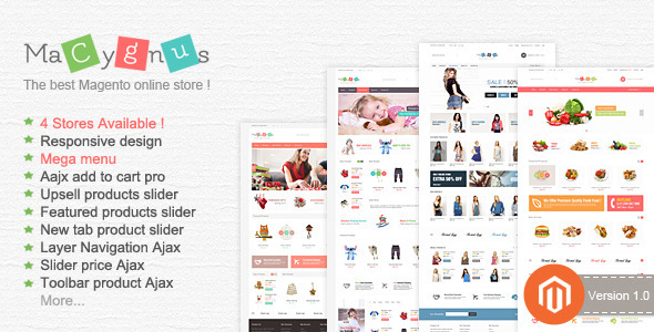 ThemeForest Cygnus Responsive Multipurpose Magento Theme 6933953