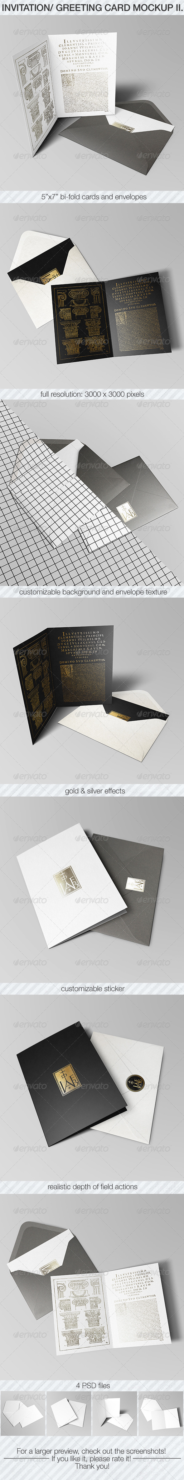 GraphicRiver Invitation & Greeting Card Mockup Pack II 6933971
