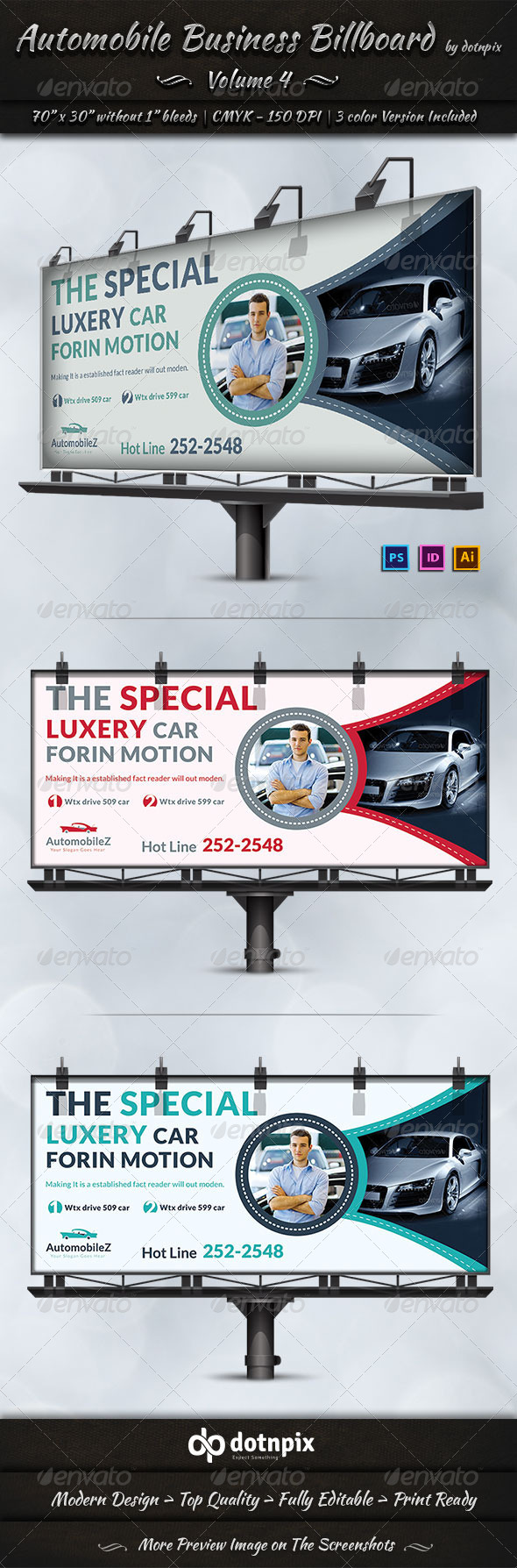 Automobile Business Billboard | Volume 4 - Signage Print Templates
