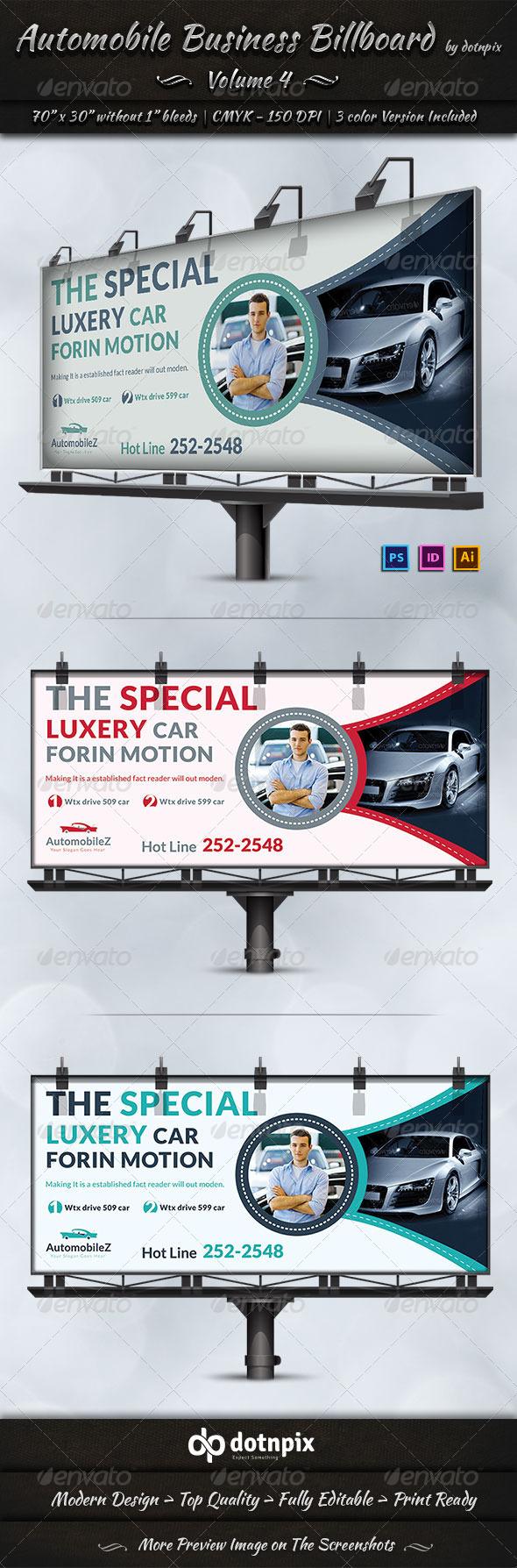 Automobile Business Billboard | Volume 4 - Signage Print Templates
