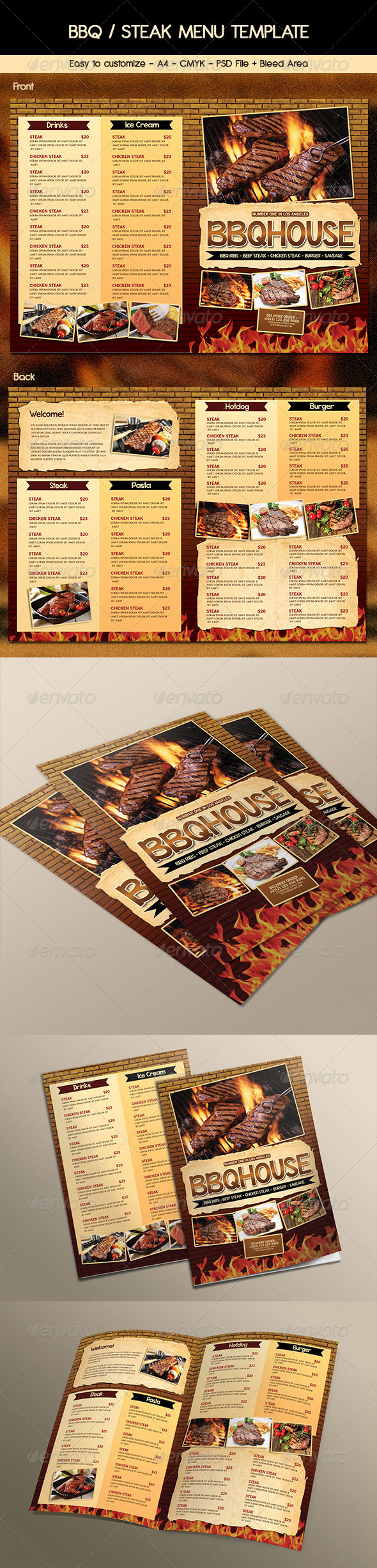 GraphicRiver BBQ Steak Menu 6934164
