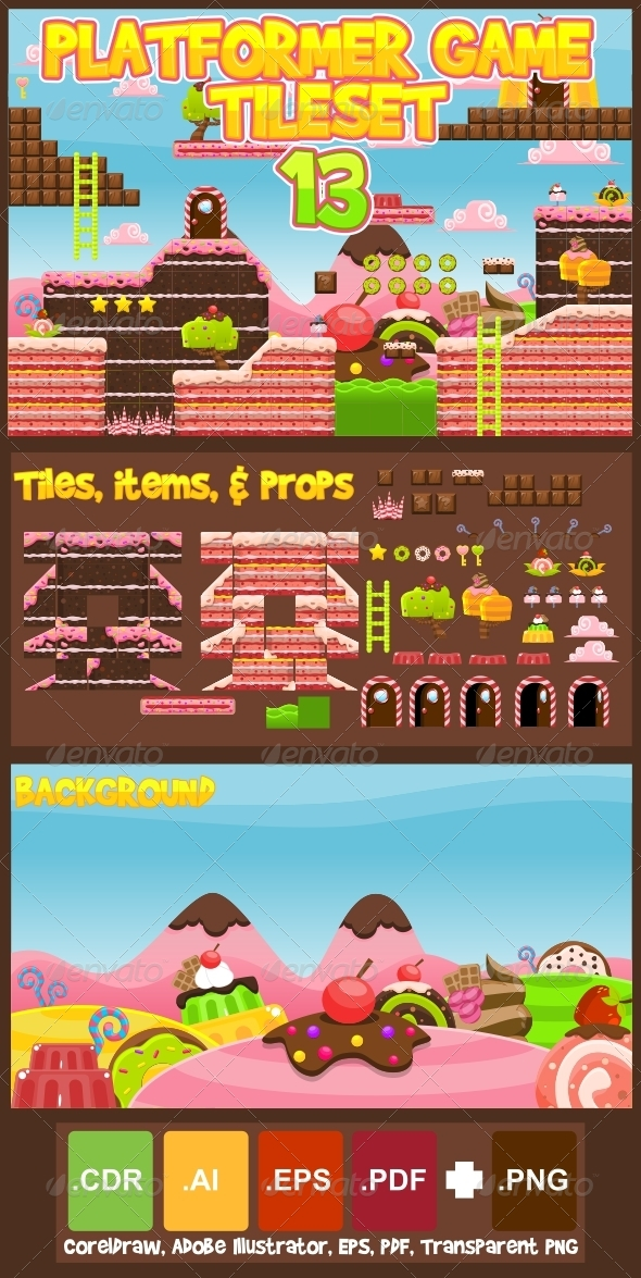 GraphicRiver Platformer Game Tile Set 13 6934271