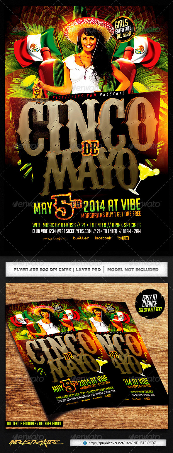 GraphicRiver Cinco de Mayo Party Flyer Template 6934426