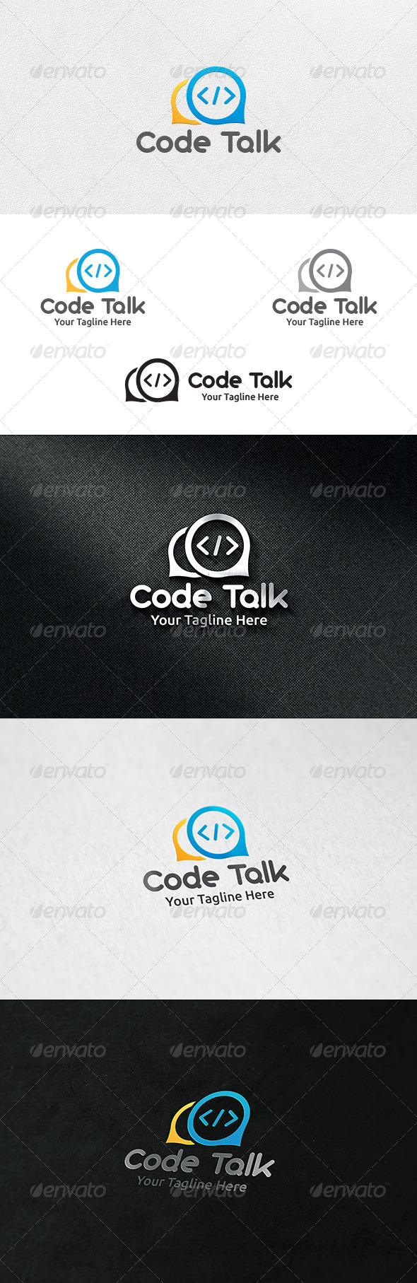 Code Talk Logo Template