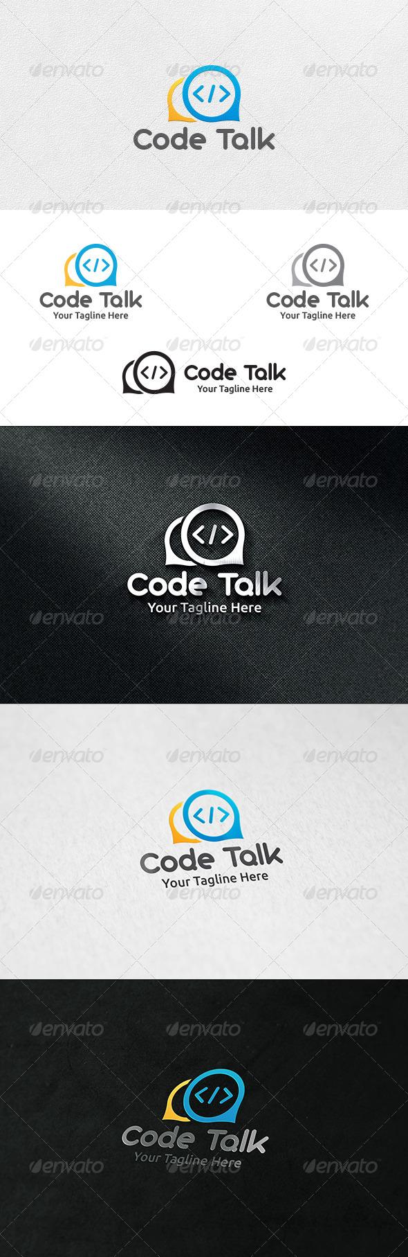 GraphicRiver Code Talk Logo Template 6934903