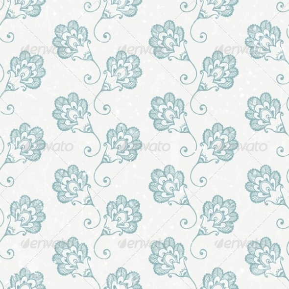 GraphicRiver Grunge Seamless Wallpaper with Retro Print 6935044
