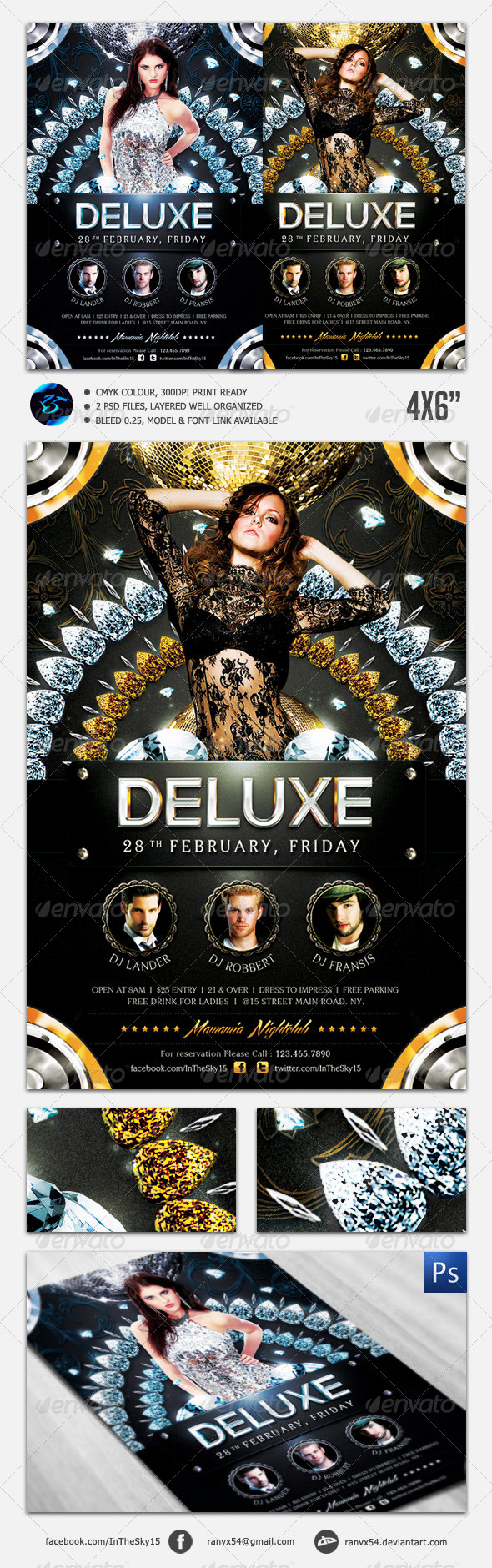 Deluxe Nightclub Flyer Template - Clubs & Parties Events