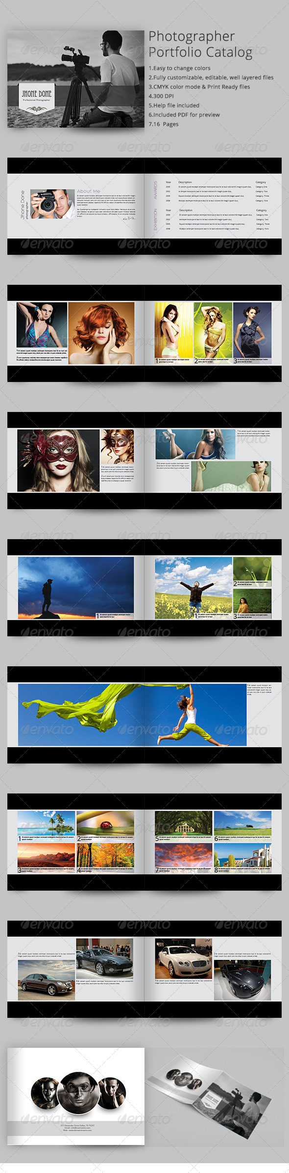 GraphicRiver Photographer Portfolio Catalog 6936173