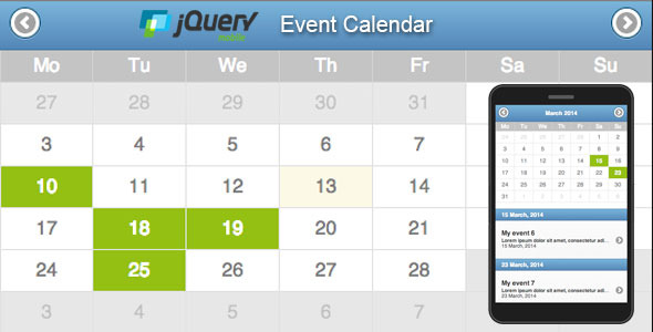CodeCanyon Jquery mobile event calendar 6874348