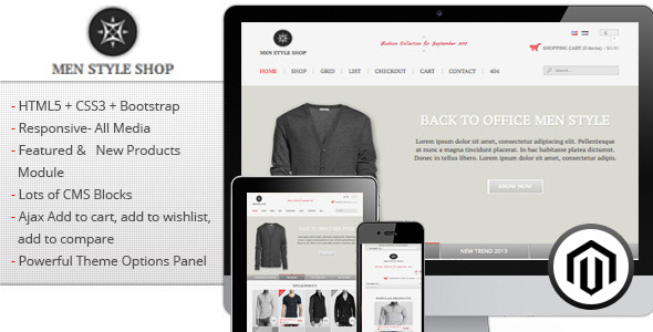 Men Style Shop - Responsive Magento Theme