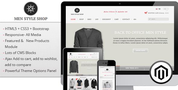 Men Style Shop - Responsive Magento Theme