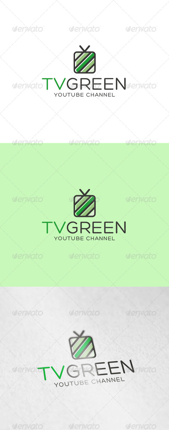 GraphicRiver Tv Green Logo 6936882