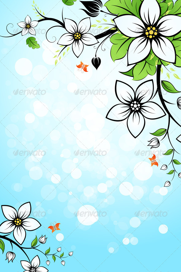 GraphicRiver Flower Background 6937097