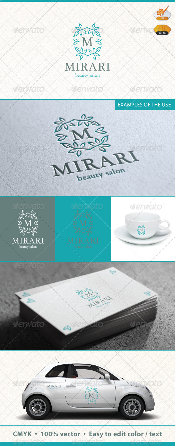 Mirari Beauty Salon Logo Template