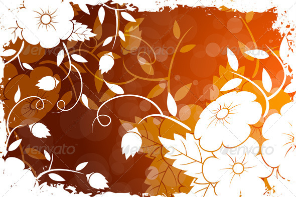 GraphicRiver Grungy Floral Background 6937144