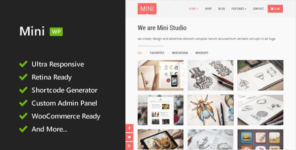 ThemeForest Mini Responsive WordPress Theme 6937426
