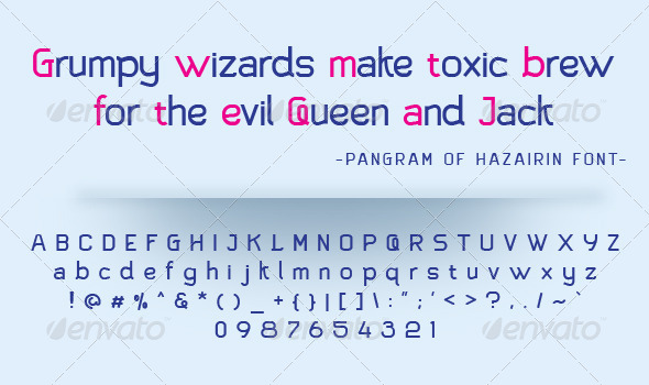 GraphicRiver Hazairin Sans Regular Font 6837541