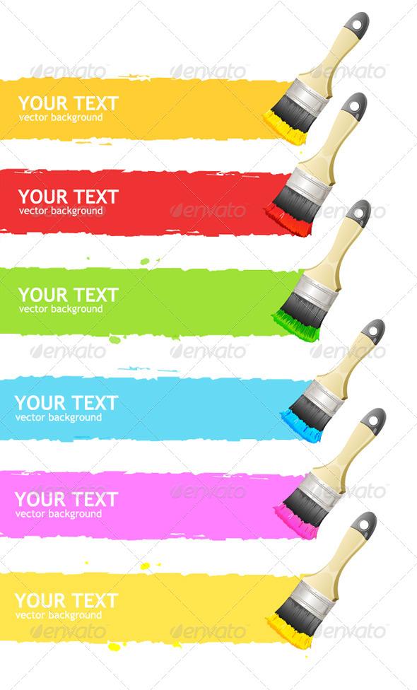 GraphicRiver Brush Headers 6937978