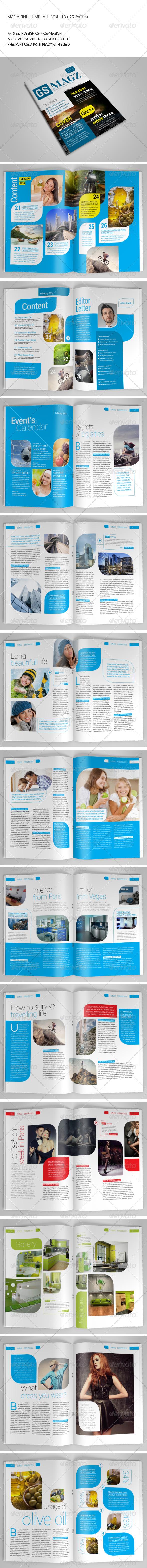 GraphicRiver 25 Pages Clean Magazine Vol13 6937990