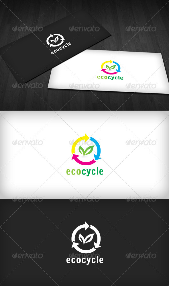 Eco Cycle Logo - Symbols Logo Templates