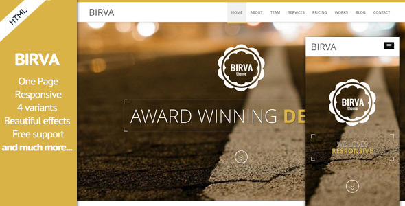 ThemeForest Birva- Responsive Multipurpose One Page HTML Theme 6927284