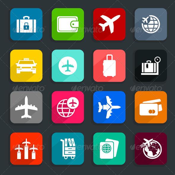 GraphicRiver Aircraft Icons 6938154