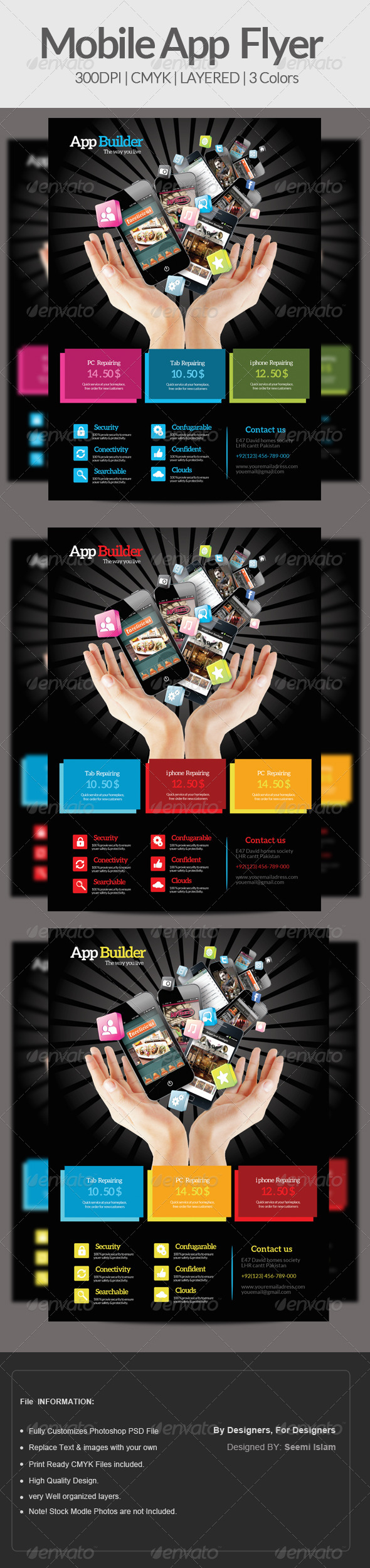 GraphicRiver Mobile App Flyer Template 6938268