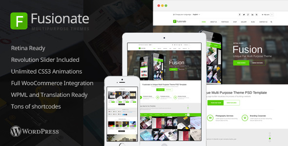 Fusionate - Retina Multi-Purpose WordPress Theme