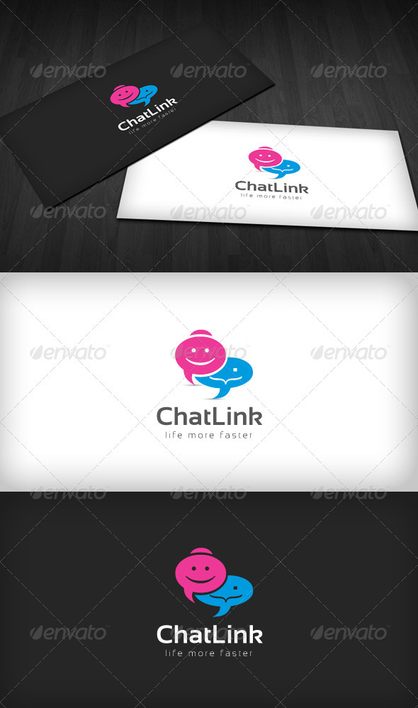 Chat Link Logo - Humans Logo Templates