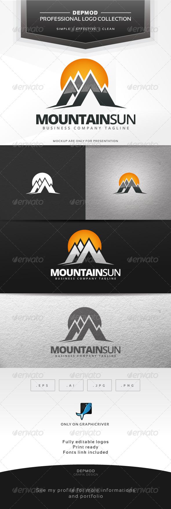 GraphicRiver Mountain Sun Logo 6938656